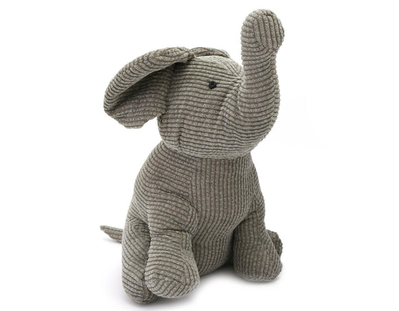 Fabric Elephant Doorstop Sage Green - Caths Direct