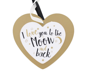 Hanging Heart Love You To The Moon & Back - Caths Direct