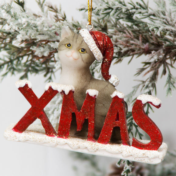 Christmas Cat Tree Ornament - Caths Direct
