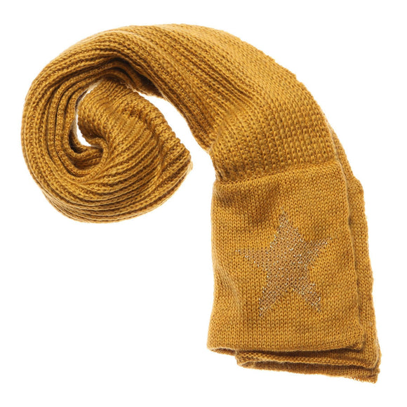 Ladies Mustard & Gold Colour Scarf Boxed - Caths Direct