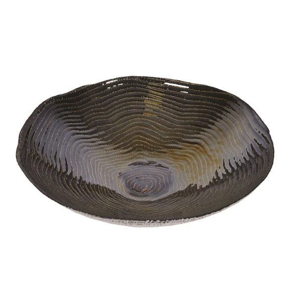 Black & Gold Lustre Effect Large Bowl - Caths Direct