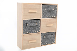 Wood & Felt Drawer Storage Unit - Caths Direct