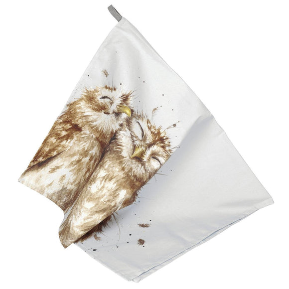 Wrendale Design Owl TeaTowel - Caths Direct