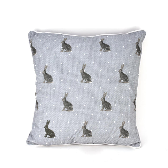 Hestia Rabbit Print Design Square Cushion - Caths Direct