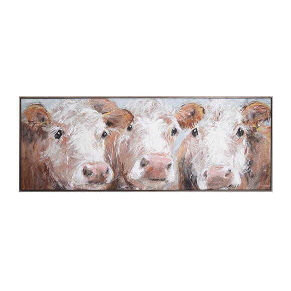 The Three Amigos Large Framed Canvas 112cm x 41cm - Caths Direct