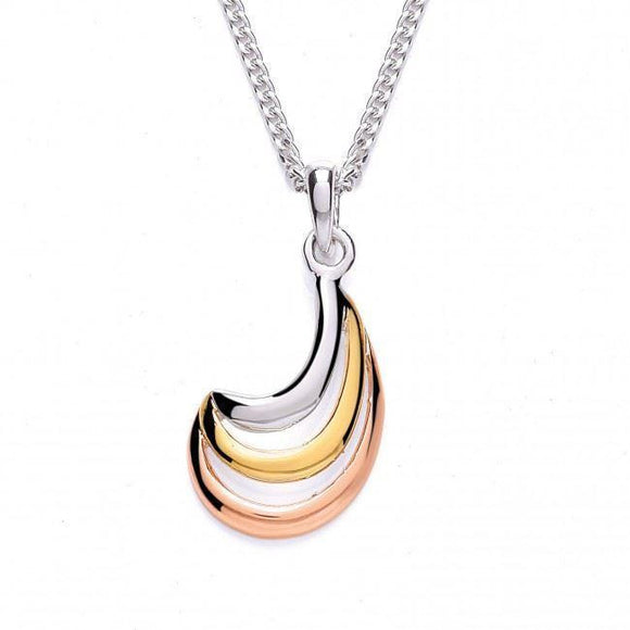 Purity Three Tone Pendant Necklace - Caths Direct
