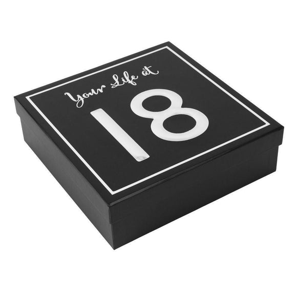 Your Life At 18 Keepsake Box - Caths Direct