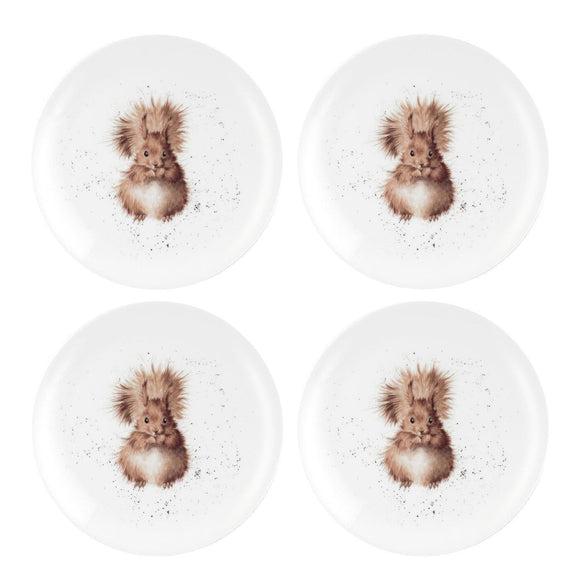 Wrendale Squirrel Design Set of 4 Coupe Plates 8