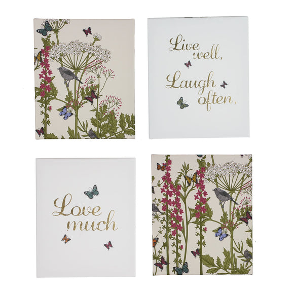Botanica Set of 4 Wall Canvases - Caths Direct