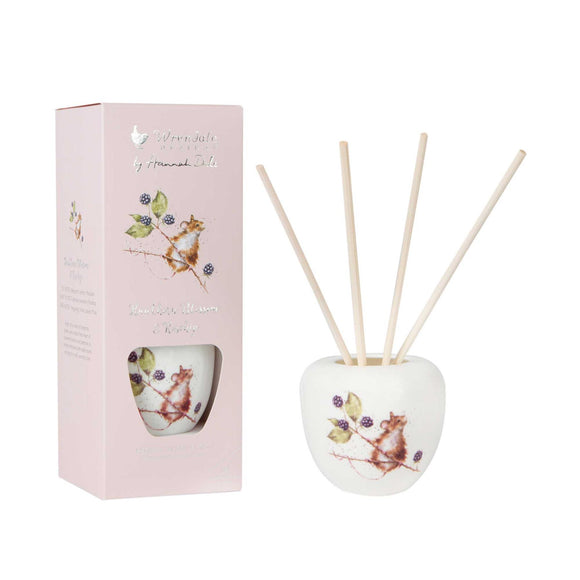 Wrendale Field Mouse Illustration Ceramic Reed Diffuser Set 200ml Hedgerow - Caths Direct