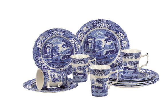 Portmeirion Spode Blue Italian 12 Piece Dinner Set - Caths Direct