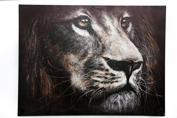 Lion Wall Canvas Extra Large 90 x 60cm - Caths Direct