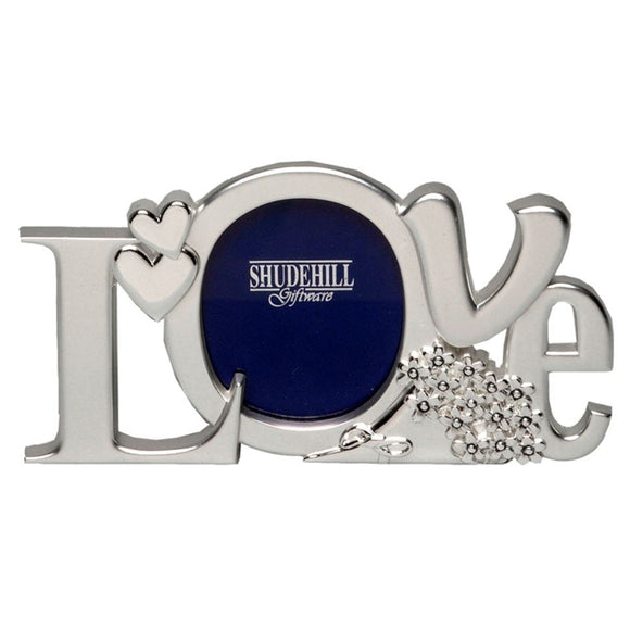 Silver Effect Love Photo Frame - Caths Direct