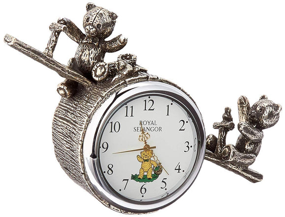 Royal Selangor Teddy Bears' Picnic Playtime Table Clock - Caths Direct