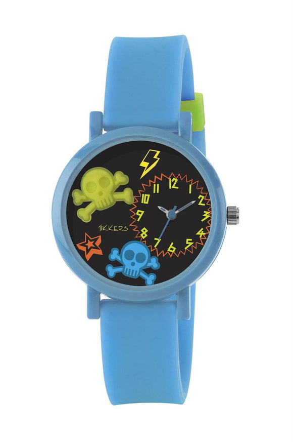 Children's Tikkers Watch with a Skulls Theme - Caths Direct