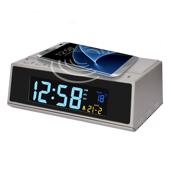 Acctim Wireless Charger LED Alarm Clock - Caths Direct