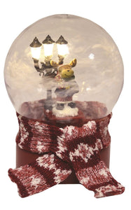 LED Christmas Snowball Reindeer Figure - Caths Direct