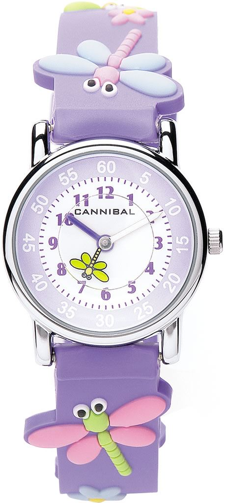 Cannibal Active Watch Purple Strap Butterfly