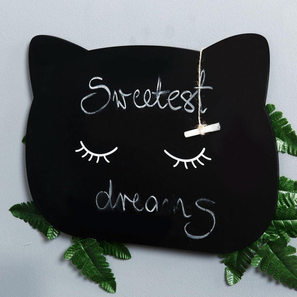 Sleeping Cat Chalk Board & Chalk - Caths Direct