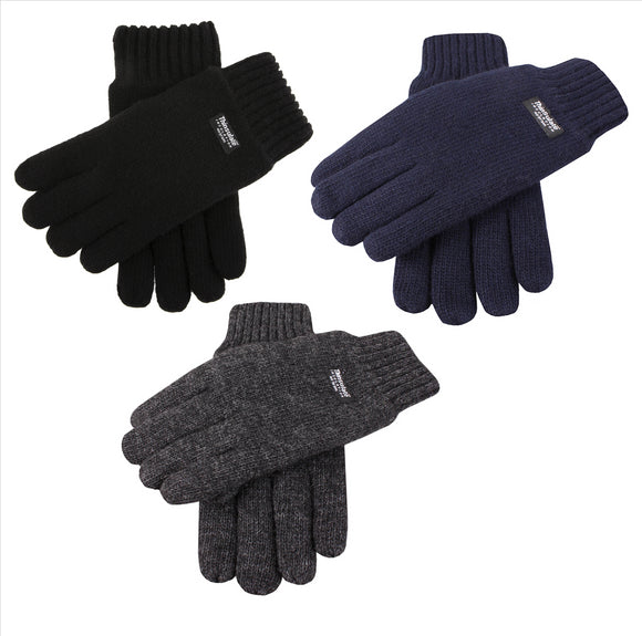 Dents Mens Knitted Gloves with Thinsulate Lining