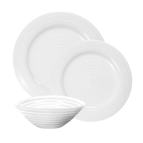 Sophie Conran for Portmeirion White 12 Piece Tableware Dinner Set - Caths Direct