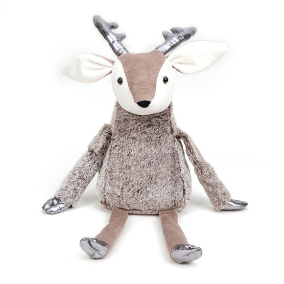 Silver & Plush Reindeer Doorstop - Caths Direct