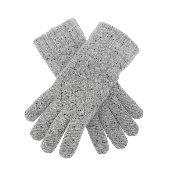 Dents Lace Knit Ladies Gloves Dove Grey - Caths Direct