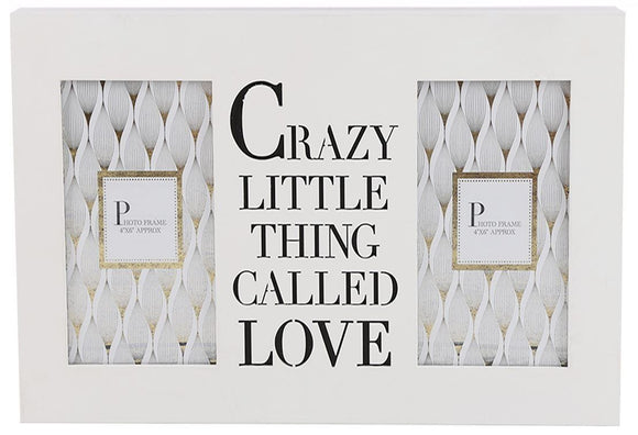 Double White Box Frame with Crazy Little Thing Called Love Message