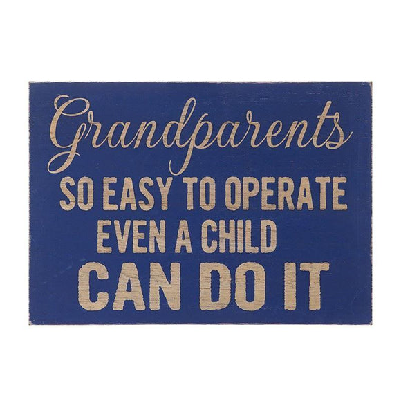 Wooden Grandparents Wall Sign - Caths Direct