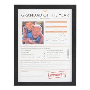 Framed Grandad of the Year - Caths Direct