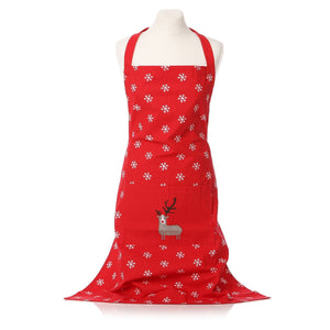 Reindeer Design Christmas Apron - Caths Direct
