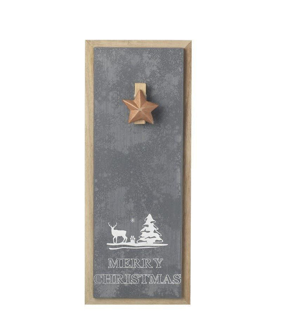 Christmas Wall Notice Board with Star Clip