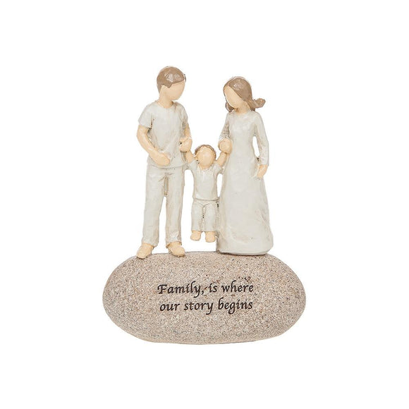 Sentiment Stones Ornament Family is Where Our Story Begins - Caths Direct