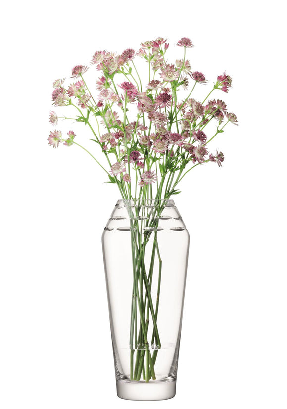 LSA International Freize Vase Clear 34cm - Caths Direct