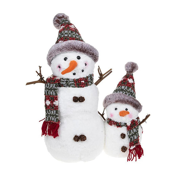 Christmas Snowman & Baby Duo Decoration - Caths Direct