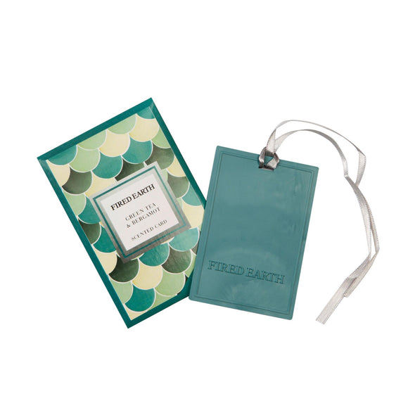 Fired Earth Green Tea & Bergamot New Scented Car & Air Freshener - Caths Direct