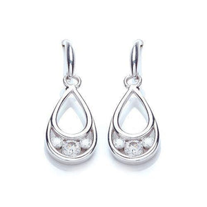 Purity Silver Pear Drop Earrings - Caths Direct