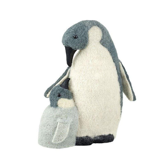 Mother & Baby Penguin Fabric Figure