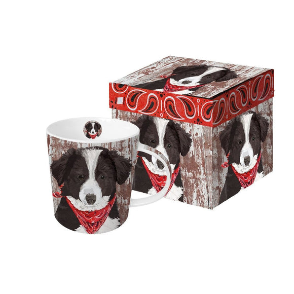 Melvin the Collie Pup Design Trend Boxed Gift Mug - Caths Direct
