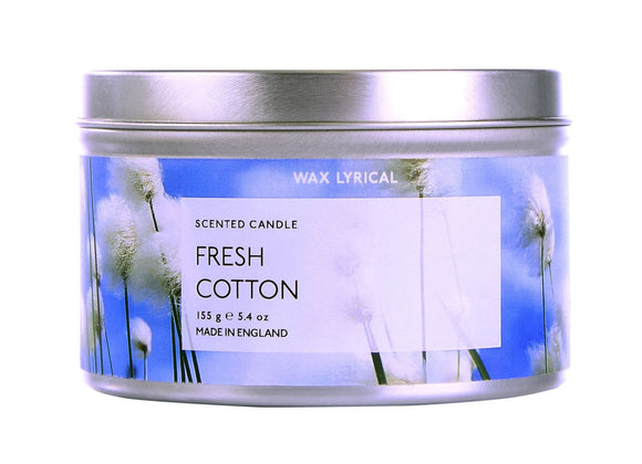 Wax Lyrical Tinned Candle Fresh Cotton - Caths Direct