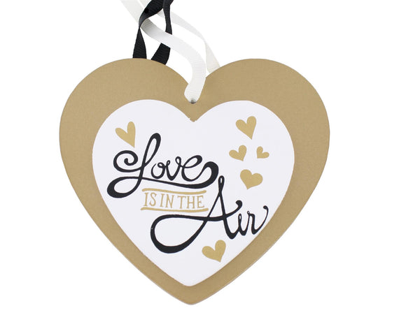Hanging Heart Love Is In The Air - Caths Direct
