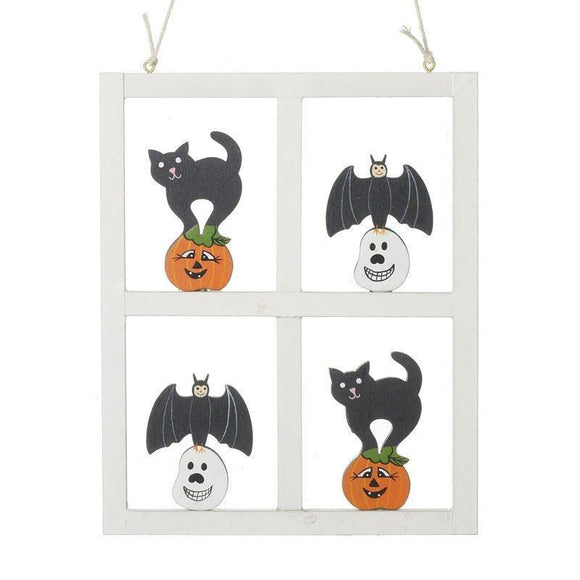 Halloween Decoration Wooden Wall Hanging - Caths Direct