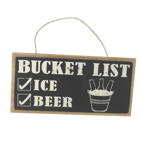 Bucket List Wall Hanging Sign
