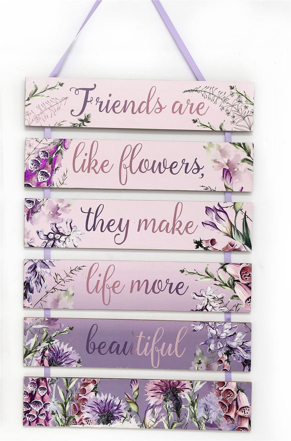 Hanging Friends Decoration Wall Plaque - Caths Direct