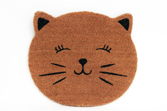 Cat Door Mat Hessian