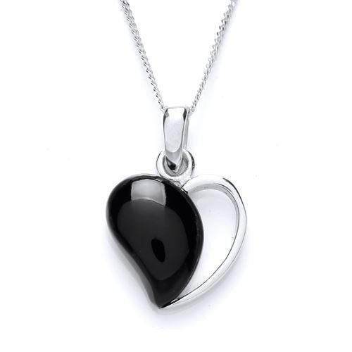 Onyx Heart Pendant - Caths Direct