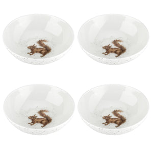 "Wrendale Design Squirrel 6"" Bowl Set of 4 - Caths Direct"