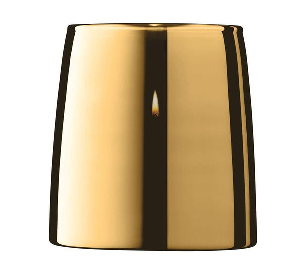 Light Metallic Table Storm Candle Lantern Gold