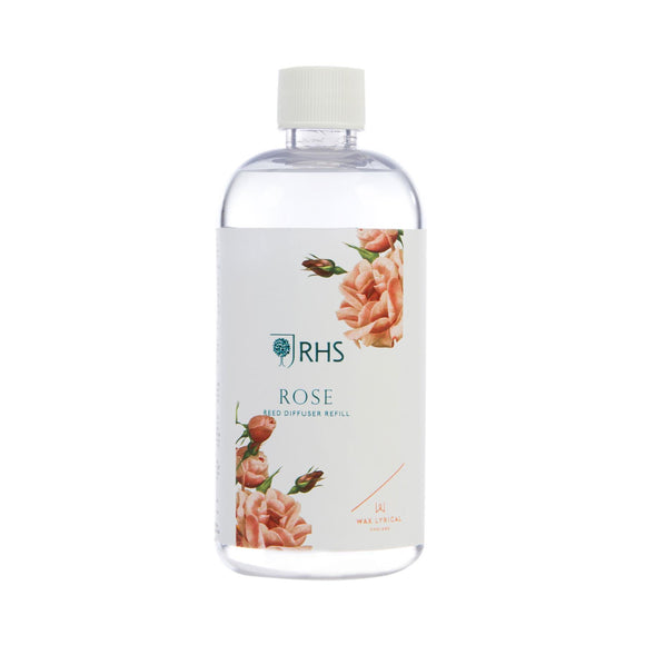 RHS Fragrant Garden Rose 200ml Reed Diffuser Refill - Caths Direct
