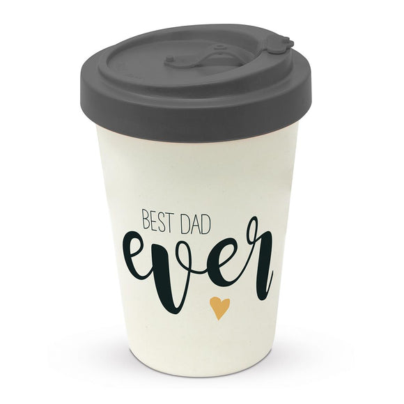 Best Dad Ever Design Eco Friendly Bamboo Travel Mug - Caths Direct